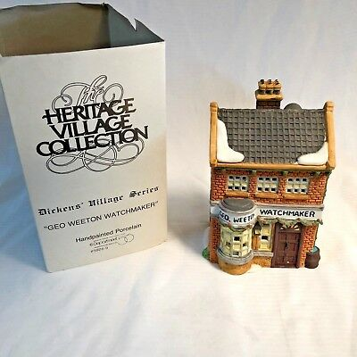 Heritage Village Dickens Collection Series; Dept. 56; Geo Weeton Watchmaker 1988