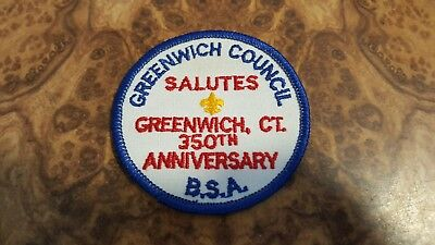 Boy Scouts Patch - Greenwich Council 350th Anniversary - BSA