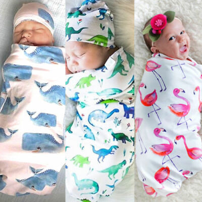 1 Set Newborn Baby Infant Cotton Swaddle Soft Blanket Sleeping Bag Warm Wrap Pou