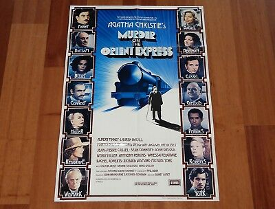 "Original Movie Poster ""murder On The Orient Express"" 1974 Uk Folded One-Sheet"