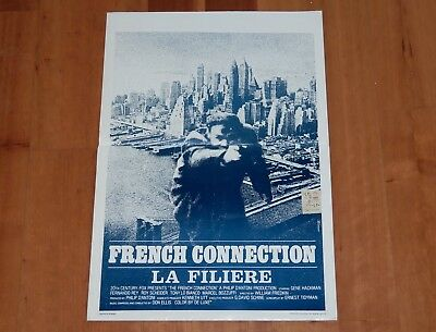 "Original Movie Poster ""french Connection"" 1971 Belgian Unfolded 'la Filiere'"
