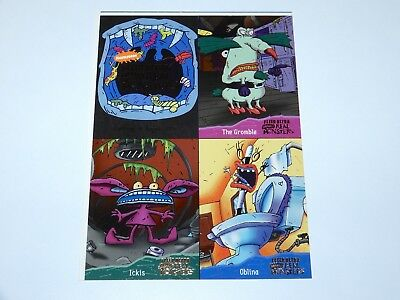 Trading Cards Real Monsters Promo Sheet Uncut 1995 Fleer Ultra Viacom