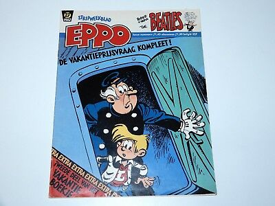 Eppo Comic Magazine 1982 Beatles Special Foldout Poster Benelux