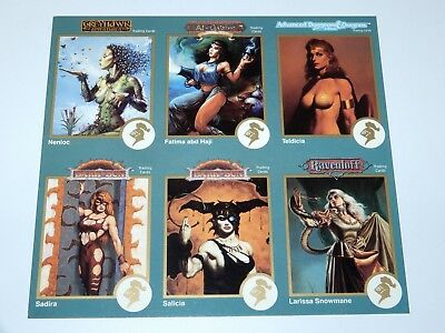 Trading Cards Advanced Dungeons & Dragons Ad&d Promo Sheet Uncut 1993 Tsr