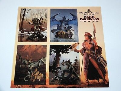 Trading Cards Keith Parkinson  Fantasy Art Promo Sheet Uncut 1994 Fpg