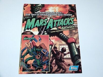 Trading Cards Mars Attacks Promo Sheet 1994 Topps