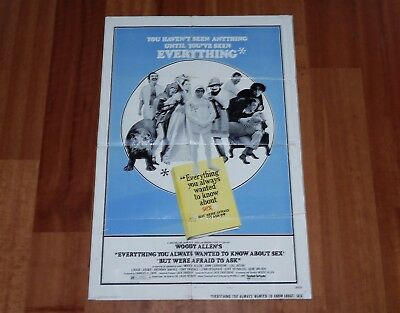 "Original Movie Poster ""everything You Always Wanted To Know About Sex"" 1-Sheet"