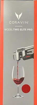 Coravin Model Two  ELITE PRO Wine Pouring System In Red