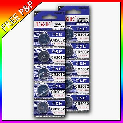 10 x CR2032 3V LITHIUM COIN CELL BUTTON BATTERY BATTERIES BR2032 DL2032