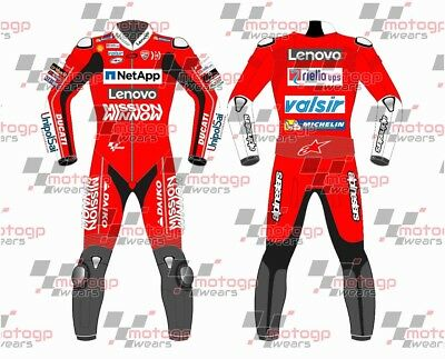 Andrea Dovizioso Ducati Motorbike Racing Leather Suit For Men's all Size