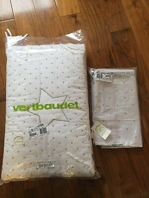 BNWT Baby Cot Bed Bumpers and duvet Set Vertbaudet