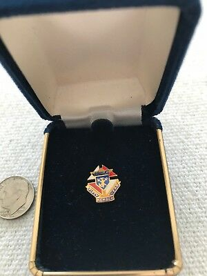 """Knights of Columbus Lapel Pin//Tie Pin /""""125 Years Living Our Faith/"""" 1882-2007 NEW"""
