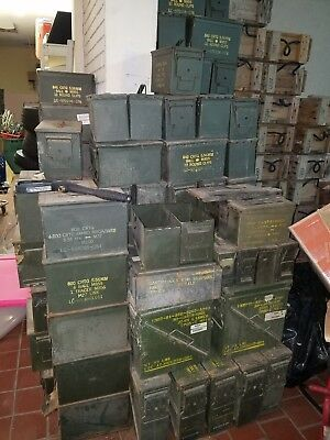 (2 Pack)50 Cal M2A1 AMMO CAN VERY GOOD CONDITION * SHIPPING PAID BY YOU *