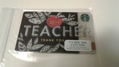 STARBUCKS - TEACHER THANK YOU - Gift Card Collectible 2016 NO Value RARE !!!