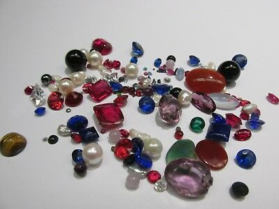 Lot Of Breakout Gemstone over 157 CARATS TWT Genuine & Synthetic Sapphire Emeral