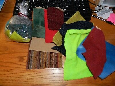 Nice lot of small felted wool pieces - 10 pieces plus bag of small pieces - New