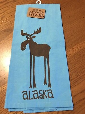 Alaska Leggy Moose Kitchen Towel~Nwt
