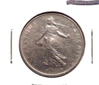 Circulated 1970 1 Franc French Coin (112215)