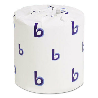 Two-Ply Toilet Tissue, White, 4 1/2 x 3 3/4 Sheet, 500 Sheets/Roll, 96 Rolls/CT