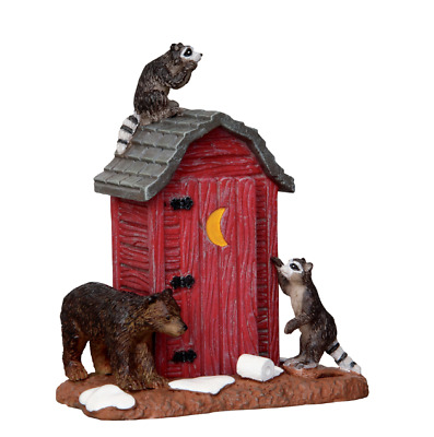 Lemax Village Outhouse Marauders Shack Figure Accessory Decor Christmas Set