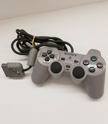 Official OEM Sony PS1 or PS2 OEM  Controller Grey SCPH-1200 TESTED