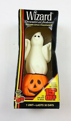 Vintage Wizard Decorative Air Freshener Ghost & Pumpkin Halloween Original NEW