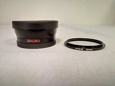 0.45X Wide Angle Lens 58mm Balck 58mm Thread with 58mm to 55mm Adapter Ring
