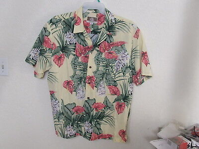 Men's Kalaheo Floral Hawaiian Shirt Size XL Made in Hawaii USA