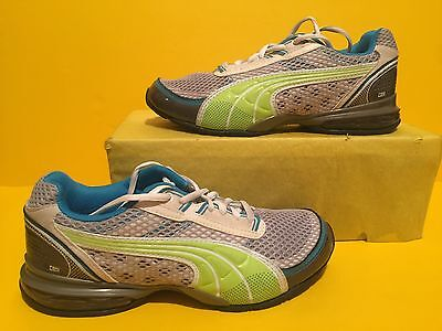3f72b0aabccb Women s Puma Archtec 10 Cel Running Shoes Size 5 Gray-Green-Blue-White
