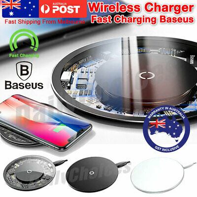 BASEUS Qi Wireless Charger FAST Charging Pad For iPhone XS XR 8 Samsung S9 S8