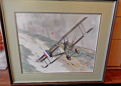 """Watercolor """"The Chase Of The Red Baron"""" By Robert E.Carlin"""