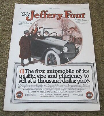 Jeffery Four Seven Passenger Automobile 1915 full page Metropolitan color ad
