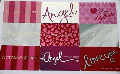 Lot of 9 Victoria`s Secret Collectible Gift Cards No Value Angel Love You I do