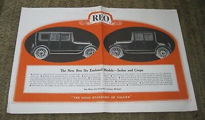 Rio Six Motor Car Co. 1919 double page Collier's color ad #A- Lansing, MI