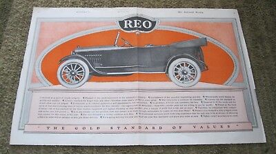 Rio Motor Car Co. 1919 double page Collier's color ad #B