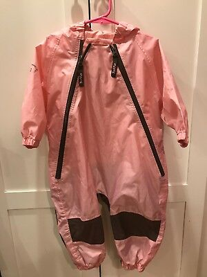 Tuffo Muddy Buddy Coverall Baby Toddler Rain Suit Jacket Girls 18 Months
