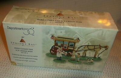 "Dept. 56 Seasons Bay ""Here Comes The Ice Cream Man"" set of 4 figurines"