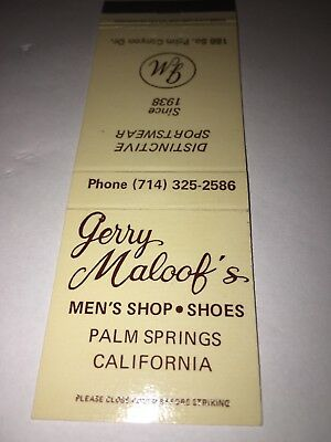 Vintage Matchbook Cover Gerry Maloof's Palm Springs California
