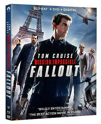 Mission: Impossible - Fallout  (Blu Ray + DVD + Digital HD) 2018 w/ SLIP COVER