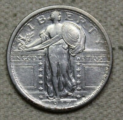 1917 Type 1 Variety Standing Liberty Silver Quarter