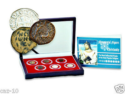 6 Coin Set Of The Most Influential People of Most Popular Religion,Christianity