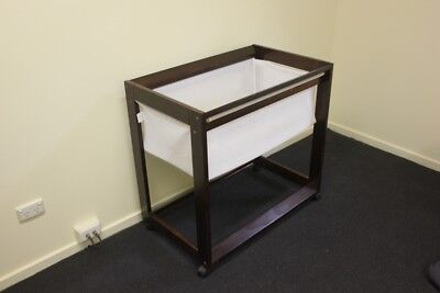 Childcare Cosy Time Sleeper Bassinet - Walnut wood colour