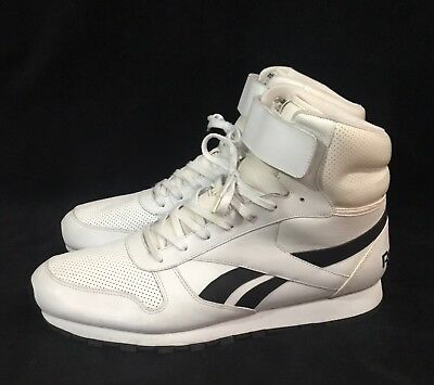 fe0bab055bf Vintage Reebok Classic High Tops Shoes With Straps Men s Size US 13 White  Black