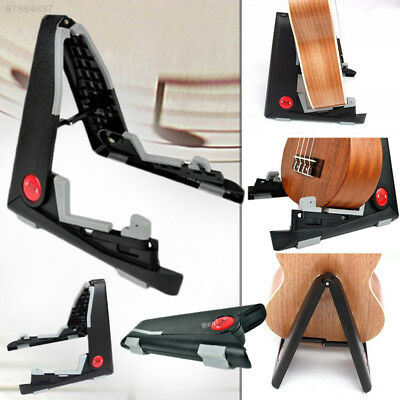 619E Aroma AGS-01 Universal Black Folding Guitar Stand Support