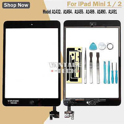 REPLACEMENT DISPLAY For APPLE IPAD MINI 1 & 2 TOUCH SCREEN DIGITIZER IC BLACK UK