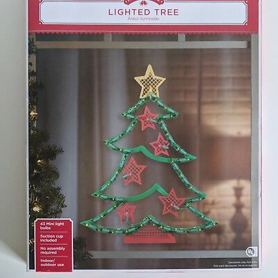 Large Outdoor Lighted Christmas Tree Yard Lawn Home Red Green Display Decoration