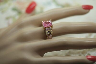 Art Deco Vintage Jewellery Gold Ring Pink White Sapphires Antique Jewelry
