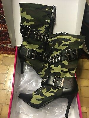 Pleaser Camouflage Boots