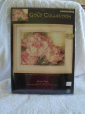 DIMENSIONS THE GOLD COLLECTION TULIP TRIO  KIT  UNWORKED No. 35175