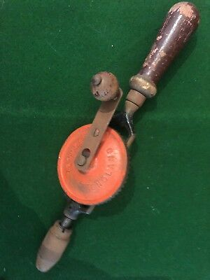 Stanley Hand Drill England Egg Beater Vintage